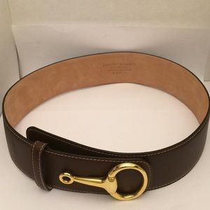 Audrey Talbot Brown Leather Belt Size Small